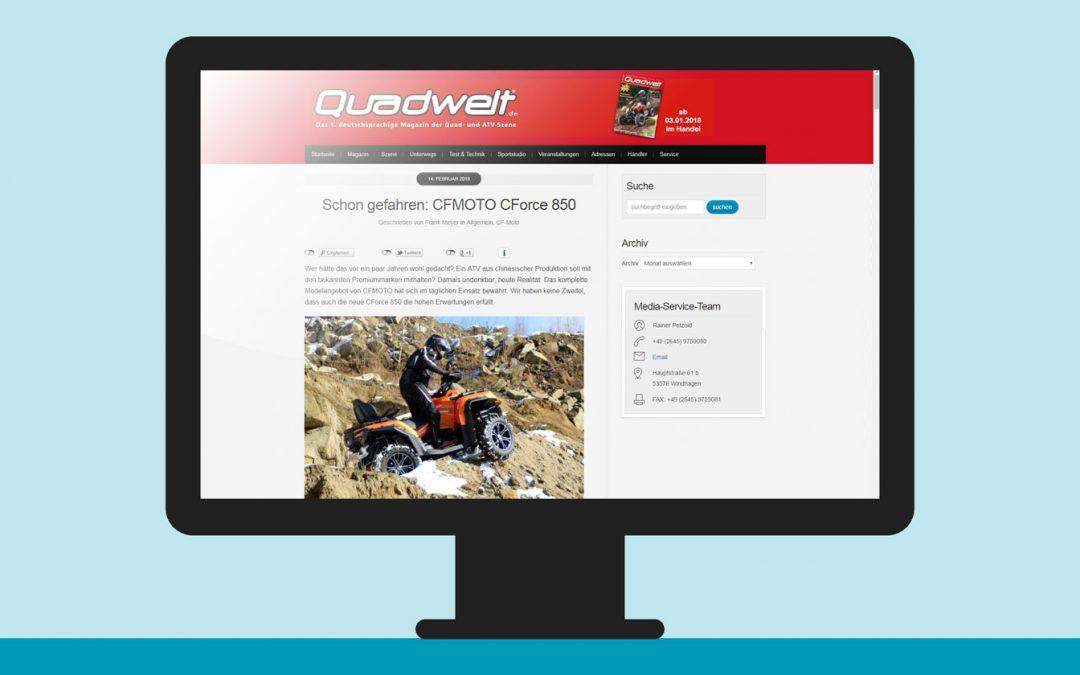 """CFMOTO CForce 850 in der """"Quadwelt"""""""